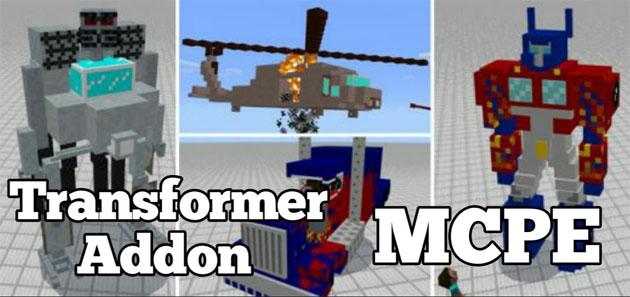 Скачать мод на Трансформеров для Minecraft PE 1.0