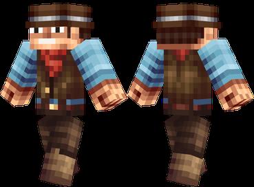 Скачать бесплатно скин ковбоя для Minecraft