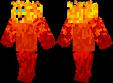 Скачать скин для Minecraft бесплатно / Огненый человек