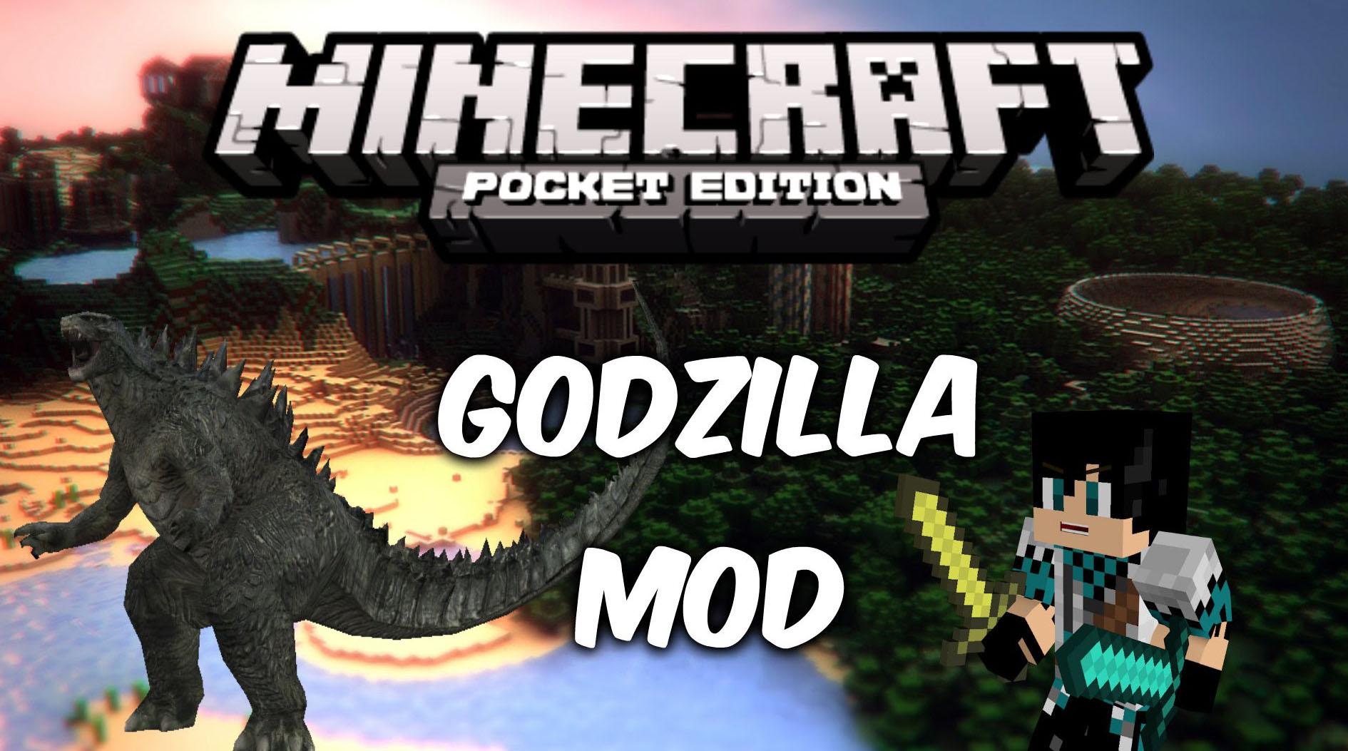 Скачать на Андроид Godzilla мод для Майнкрафт ПЕ 1.0.7