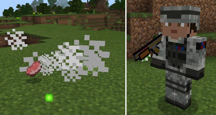 Скачать мод на оружие для Майнкрафт PE 1.0.7