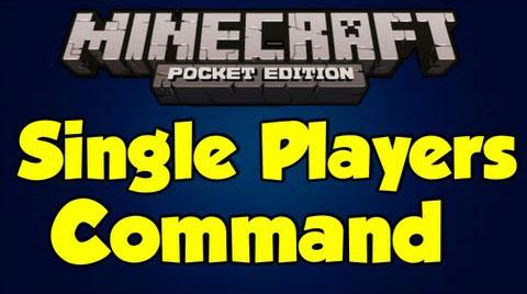 Скачать мод для Андроид - Single Player Commands 0.9.5 - 0.8.1