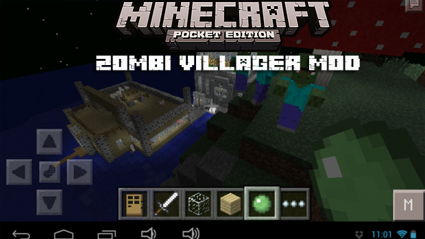 Мод для Майнкрафт PE 0.9.5 / Zombie Villager