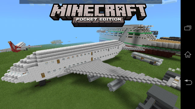 Карта для планшета или телефона / AIRBUS Minecraft PE