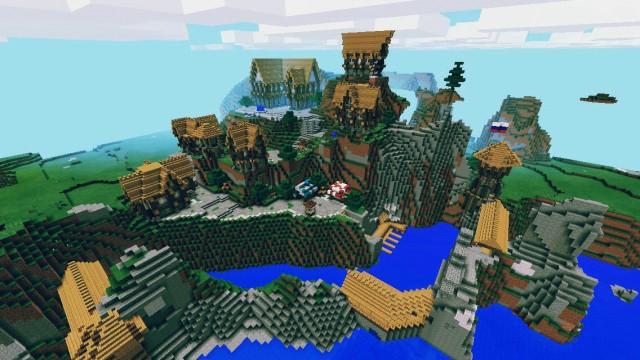 Карта для Minecraft PE / Daenor Medieval Town
