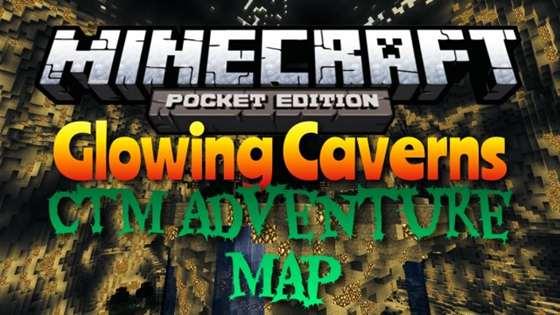 Скачать бесплатно карту Майнкрафт PE/Андроид - Glowing Caverns