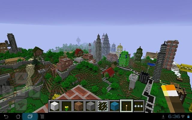 Карта для Minecraft PE - Town на телефон Андроид/iOS