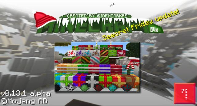 Скачать новогодние текстуры на Андроид для Minecraft 0.13.x