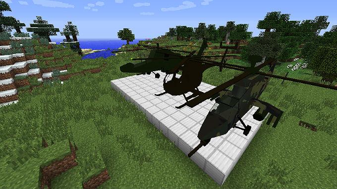 Этот мод добавляет в игру вертолеты в