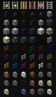 Новы блоки, заборы в игре Майнкрафт
