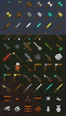 Скачать сборку Майнкрафт 1.5.2 с оружием