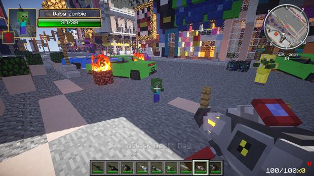 Скачать Майнкрафт Зомби Апокалипсис с оружием и машинами