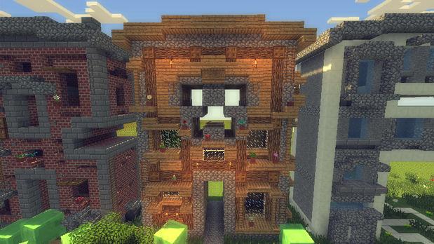 Скачать Майнкрафт карту с построенными домами