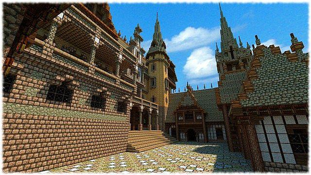 Скачать бесплатно карту для Майнкрафт / Историчесикй Замок