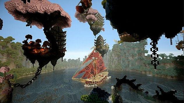Minecraft карта / Драконы
