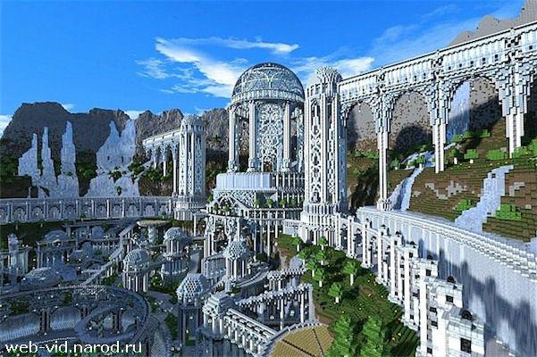 Скачать бесплатно карту для Minecraft - Город