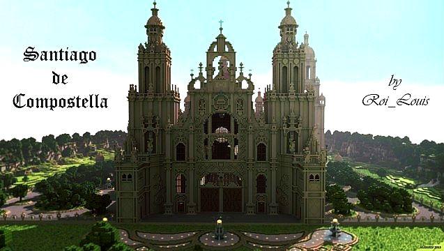 Скачать карту для Minecraft / Собор Santiago de Compostella 1.6 - 1.5.2