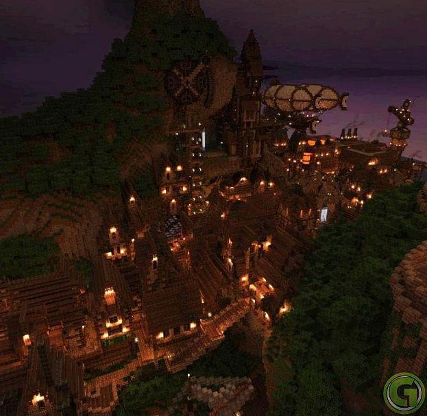 Скачать Карту Выживание Город для Майнкрафт 1.5.2