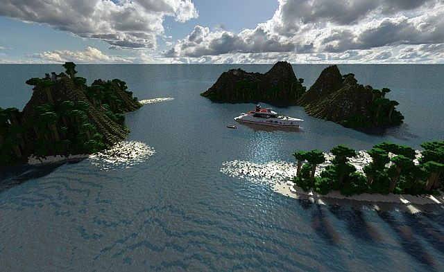 Скачать карту для Майнкрафт - Яхта на острове