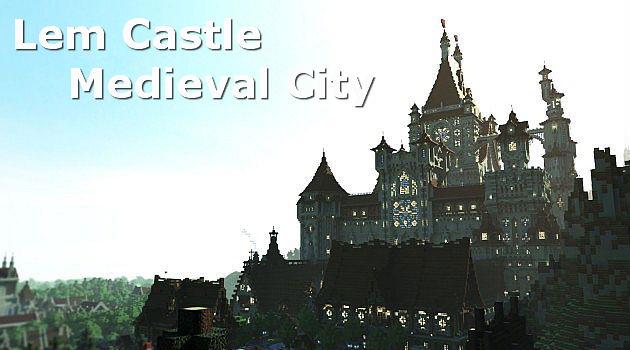 Средневиковый замок / Карта для Minecraft