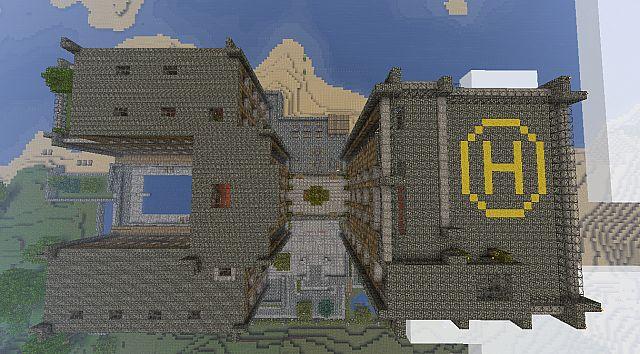 Вертолетная площадка / Карта Майнкрафт