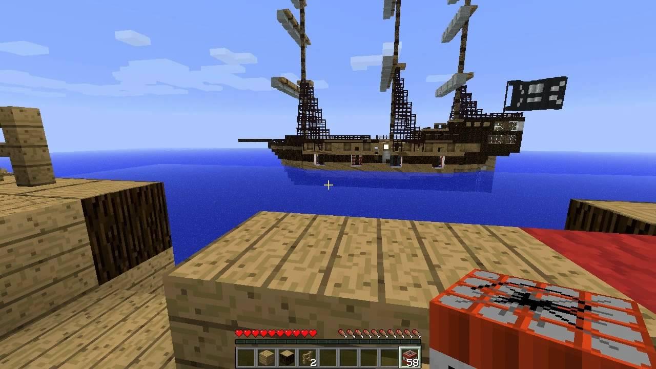 Майнкрафт битва на кораблях