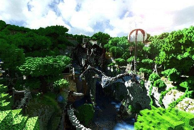 Фантастический город / Карта для Minecraft 1.5.2