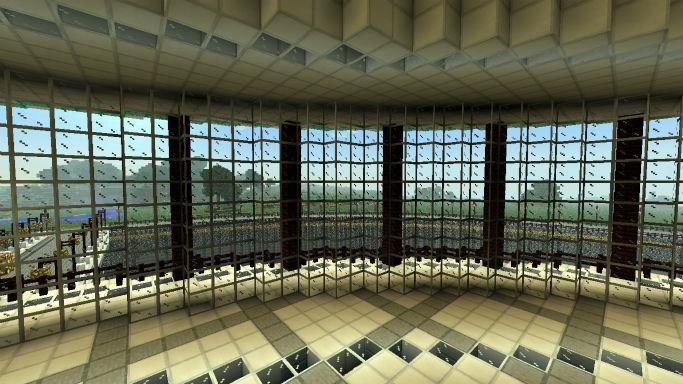 Карта для Minecraft Futuristic server spawn