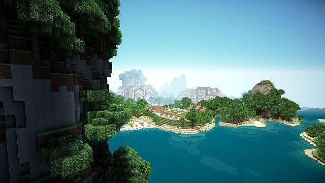 Карта Minecraft на красивом острове для версий 1.7.2, 1.6.2, 1.5.2