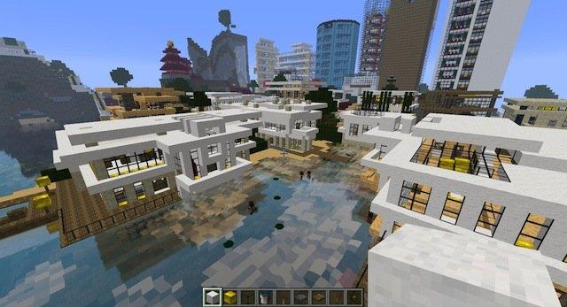 Современный город / Карта для Minecraft 1.6.2, 1.5.2