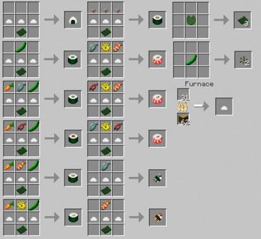 Майнкрафт Sushi мод для версии 1.11.2/1.7.10