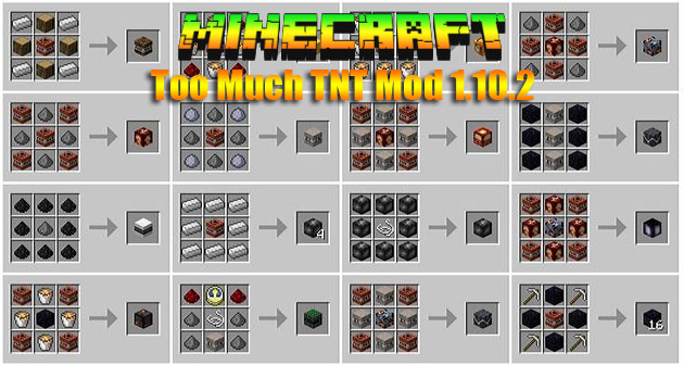 Скачать Майнкрафт мод 1.11.2 на TNT взрывчатку