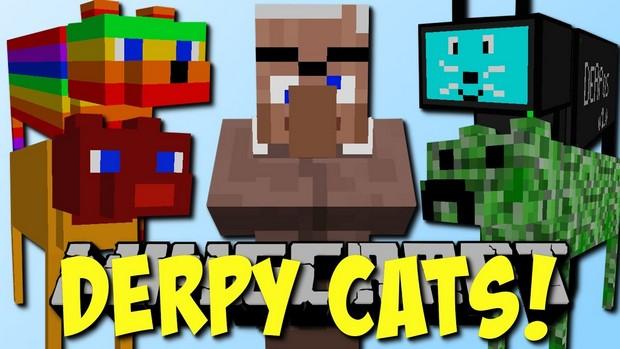 Мод Derpy Cats для Майнкрафт 1.12
