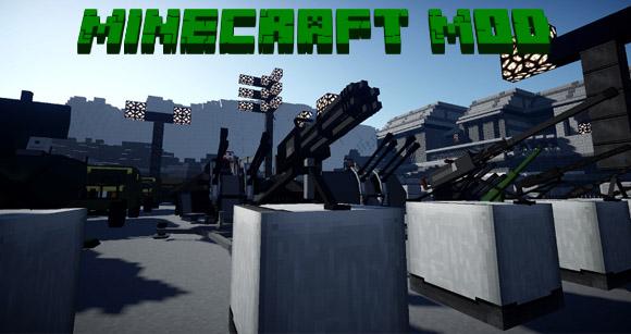 Скачать крутой военный мод на оружие для Майнкрафт 1.7.10