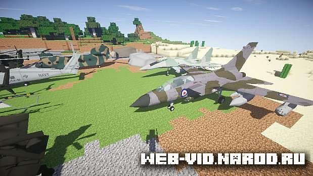 Мод MC Helicopter для Minecraft 1.7.10 / Самолеты и вертолеты