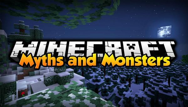 Скачать мод Myths and Monsters для Майнкрафт 1.7.10/1.7.2