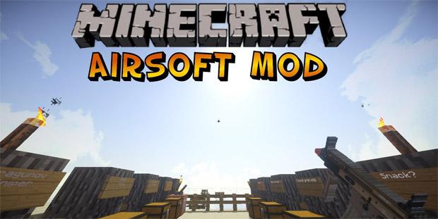 Мод Airsoft на оружие для Майнкрафт 1.7.2