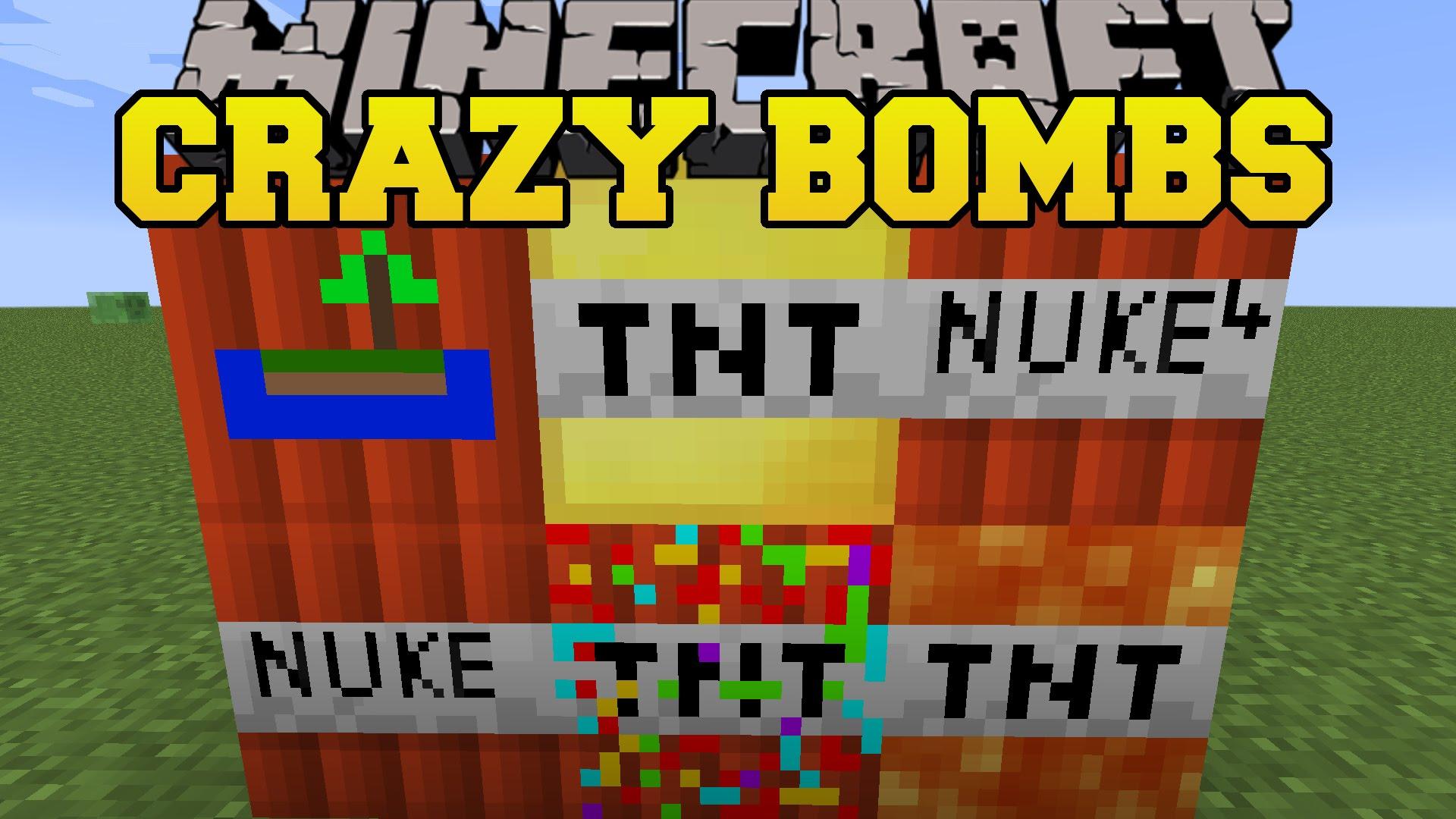 Мод на взрывчатку - Crazy Bomb для Minecraft 1.8.9