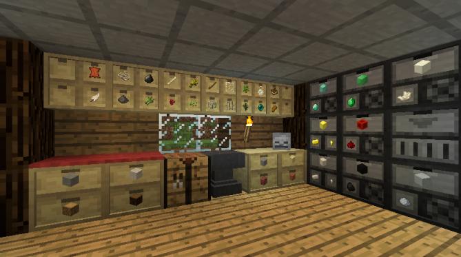 Скачать мод для Майнкрафт 1.11 - Storage Drawers