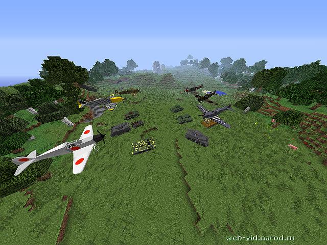 Мод для содзание самолетов в игре Minecraft