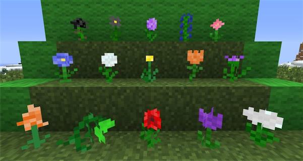 Мод для Minecraft 1.5.2, 1.6, добавляет больше цветов / Скачать бесплатно
