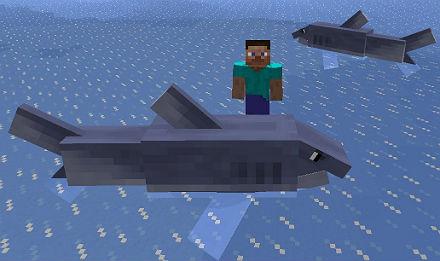 Minecraft мод 1.5.2 / Акулы