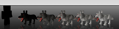 Волки / Мод для Миникрафт 1.5.2