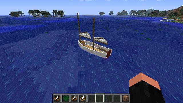 Скачать бесплатно мод для Minecraft 1.5.2 / Новые лодки / SmallBoats