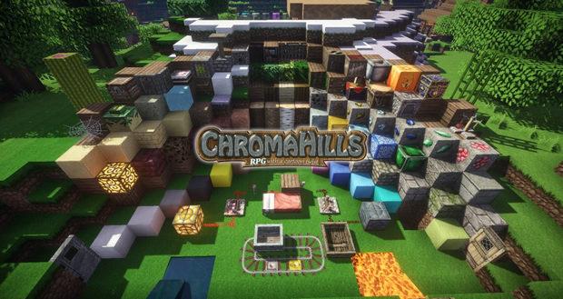 Скачать HD текстуры Chroma Hills РПГ 128x для Майнкрафт 1.11.2